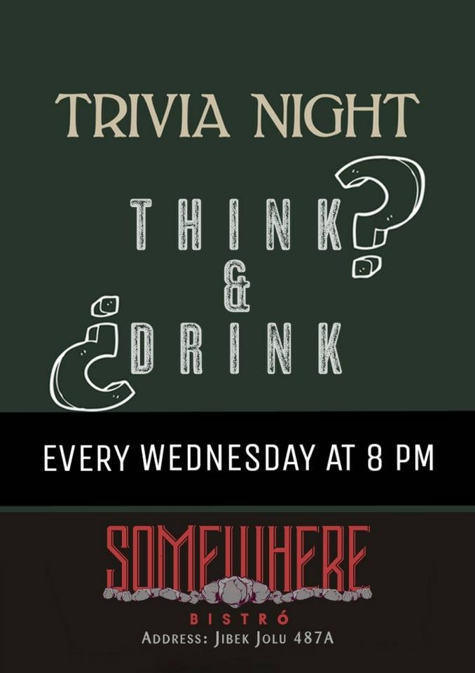 Weekly Pub Quiz at Somewhere bistro